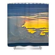 South Seas Yellow Shower Curtain