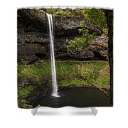 South Silver Falls Into The Pool Shower Curtain
