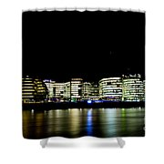 Southbank London At Night Shower Curtain