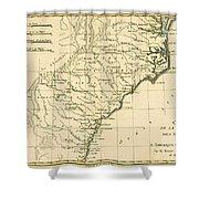 Southeast Coast Of America Shower Curtain