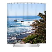 Southern California Coastline Photo Shower Curtain