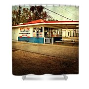 Southern Fried Rabbit Shower Curtain by Tamyra Ayles