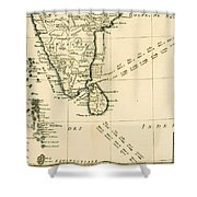 Southern India And Ceylon Shower Curtain