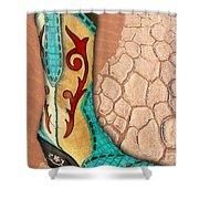 Southwest Snakeskin Boots Shower Curtain