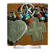 Southwest Style Jewelry With Texas Star Shower Curtain