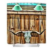 Southwestern Longhorn Skull Shower Curtain