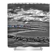 Southwold Beach Huts Shower Curtain