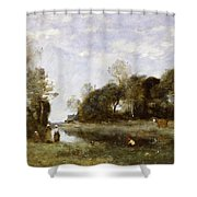 Souvenir Of The Bresle At Incheville  Shower Curtain