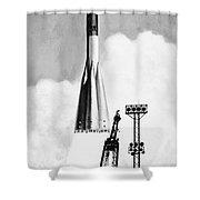 Soviet Soyuz Rocket, 1975 Shower Curtain