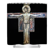 Sozio: Crucifix, 13th C Shower Curtain