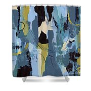 Spa Abstract 1 Shower Curtain by Debbie DeWitt
