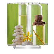 Spa Oil Bottles Shower Curtain