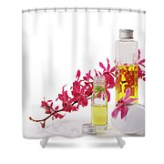 Spa Set With Copy Space Shower Curtain