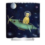 Space Bob Shower Curtain