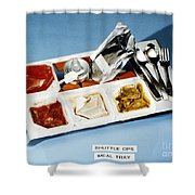 Space: Food Tray, 1982 Shower Curtain