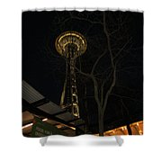 Space Needle Entertainment Shower Curtain