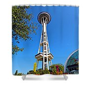 Space Needle In Seattle Washington  Shower Curtain