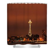 Space Needle Morning Shower Curtain