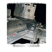 Space Shuttle Discovery And Components Shower Curtain