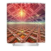 Space Portal To The Stars Shower Curtain
