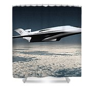Space Transport Shower Curtain