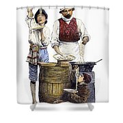 Spaghetti Vendor Shower Curtain
