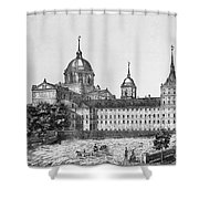 Spain: El Escorial, C1860 Shower Curtain