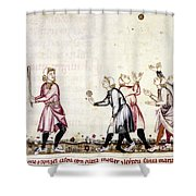 Spain: Medieval Ballgame Shower Curtain