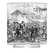Spain: Second Carlist War Shower Curtain