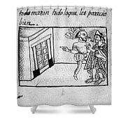 Spanish Conquest Shower Curtain