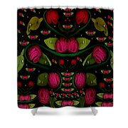 Spanish Flamenco Roses In Fantasy Style Shower Curtain