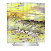 Spanish Mountain Village 01 Shower Curtain