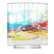 Spanish Peaks Study Shower Curtain