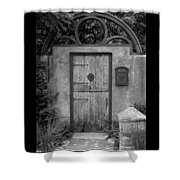Spanish Renaissance Courtyard Door Shower Curtain
