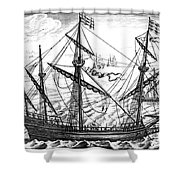 Spanish Ship, C1595 Shower Curtain
