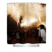 Spark Tree Shower Curtain
