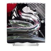 Sparkling Curved Chrome  Shower Curtain