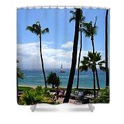 Sparkling Sea At Kaanapali Maui Shower Curtain