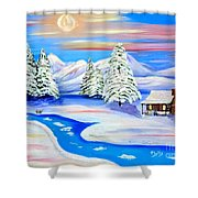 Sparkling Winter Shower Curtain