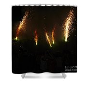 Sparks Of Pens Shower Curtain
