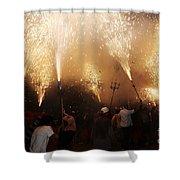 Sparks Rain 2 Shower Curtain