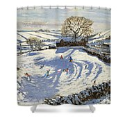 Sparrowpit Derbyshire Shower Curtain by Andrew Macara