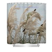 Sparrows In Breeze Shower Curtain
