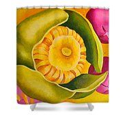 Spatterdock - Panel 1 Of 3 Shower Curtain