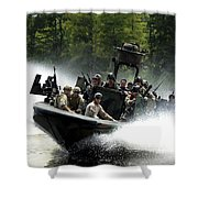 Special Forces In A High-speed Combat Shower Curtain