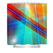 Spectrum Correction Shower Curtain