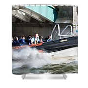 Speedboat Shower Curtain