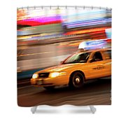 Speeding Cab Shower Curtain