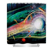 Sphere Metaphysics Shower Curtain