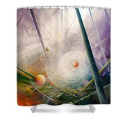Sphere New Lights Shower Curtain